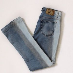 Buffalo Vintage Mid-Rise Multi-Washed Flared Jeans